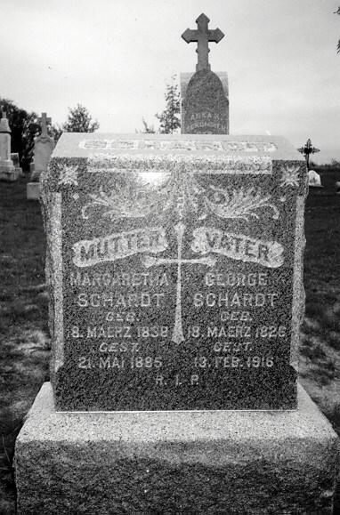 George Schardt I tombstone