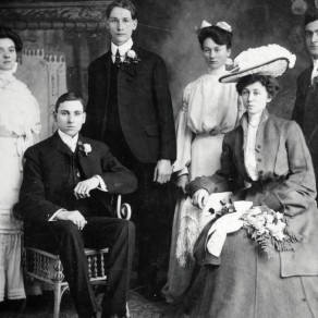 George Matthew Schardt and Monica Hanke wedding in 1903