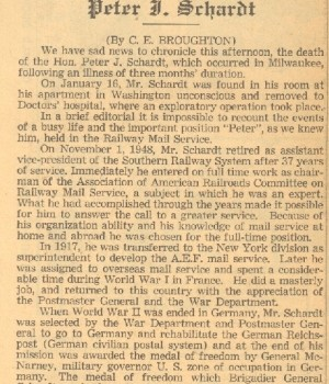 Peter J Schardt obit Sheboygan Press cropped